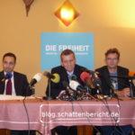 """Pressekonferenz zur Gründung der Partei """"Die Freiheit"""""""