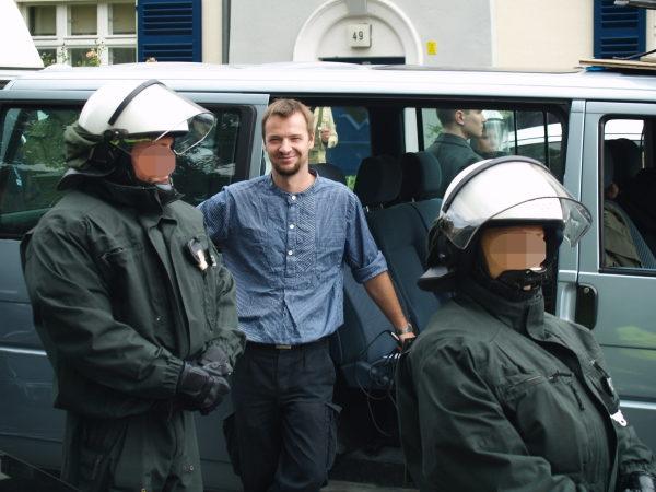 Jörg Hähnel auf einem NPD-Aufmarsch am 23.08.2008 in Berlin