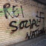 """""""Frei Sozial National"""" und Hakenkreuz am ersten November-Wochenende 2010 in Oberschöneweide"""