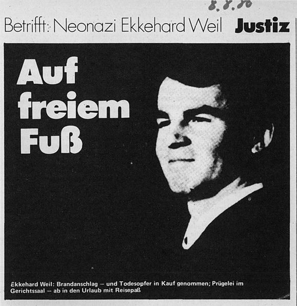 """Artikel aus der """"zitty"""" vom 08. August 1980 über den Umgang mit Nazi Weil"""