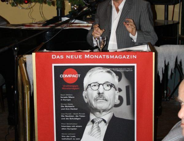 """""""Sarazzin – Der neue Bundeskanzler? Was eine neue Volkspartei erreichen kann"""" am 6. Dezember 2010 im Ratskeller Schmargendorf"""