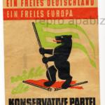 """Flugblatt der """"Konservativen Partei"""" mit dem Berliner Wappentier (Quelle: apabiz)"""