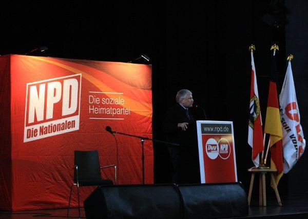 Parteichef Udo Voigt am 15. Januar 2011 in Lichtenberg