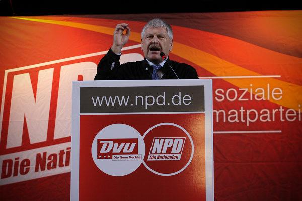 NPD-Vorsitzender Udo Voigt im Januar 2011 in Berlin