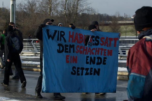 Neonazis als Tierrechtler in Berlin am 22.01.2011