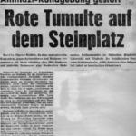 Vor 50 Jahren: Kundgebung Berliner StudentInnen gegen Neonazismus