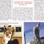 Sacha Korn posiert für die extrem rechte Zeitschrift Zuerst