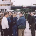 JN-Vorständler Apfel und Gallasch 2003 auf dem Berliner Alex