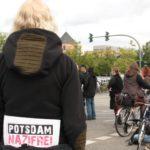 Blockade gegen die NPD-Demo in Potsdam