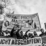 Flüchtlingsproteste im Visier