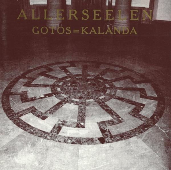 """Cover einer """"Allerseelen""""-Veröffentlichung. Zu sehen ist die""""Schwarze Sonne"""" als Bodenverzierung in der SS-Kultstätte Wewelsburg (bei Paderborn)."""