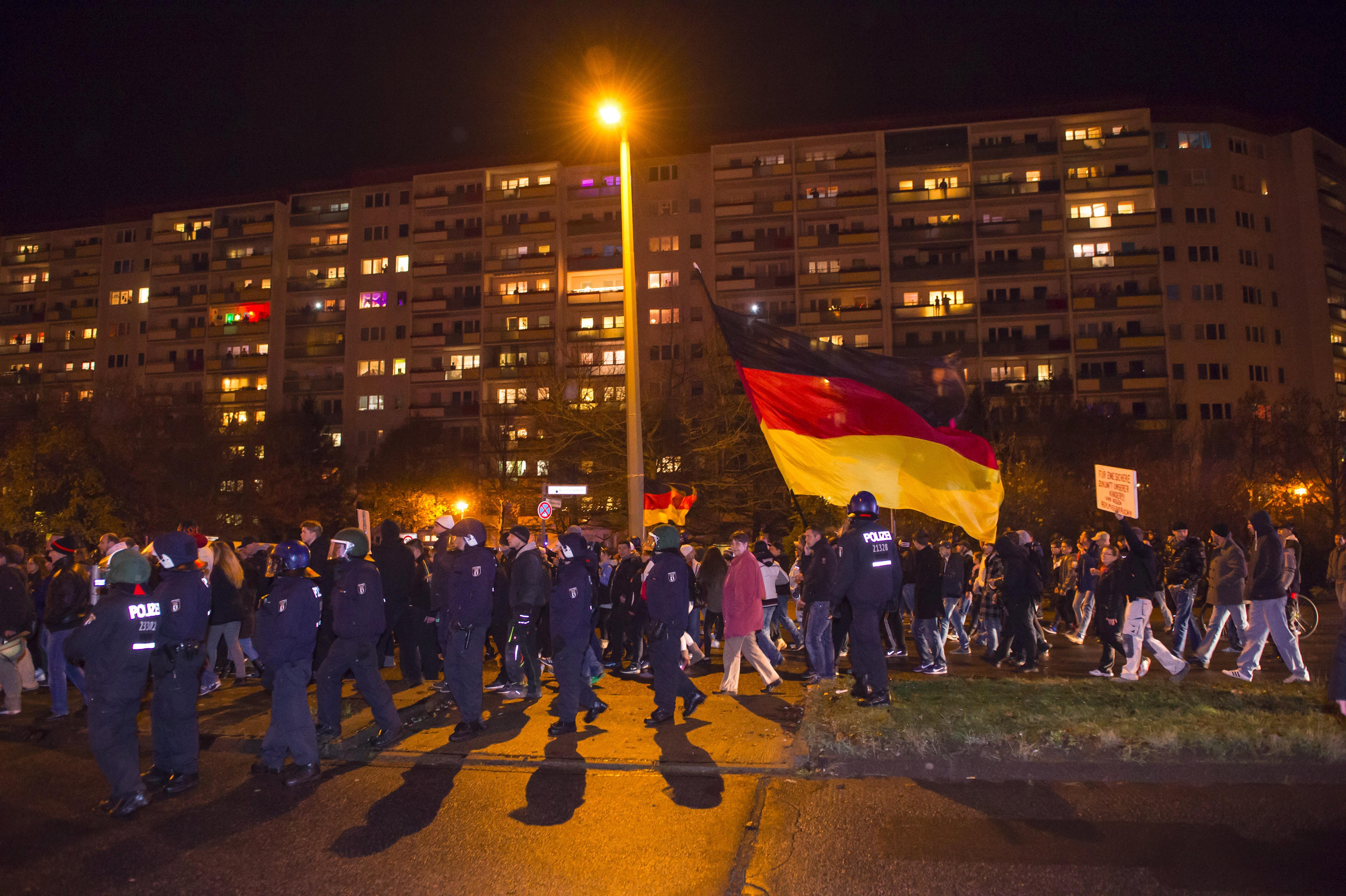 Neonazi-Aufmarsch am 24. Nobember 2014 in Marzahn | (c) Christian Ditsch