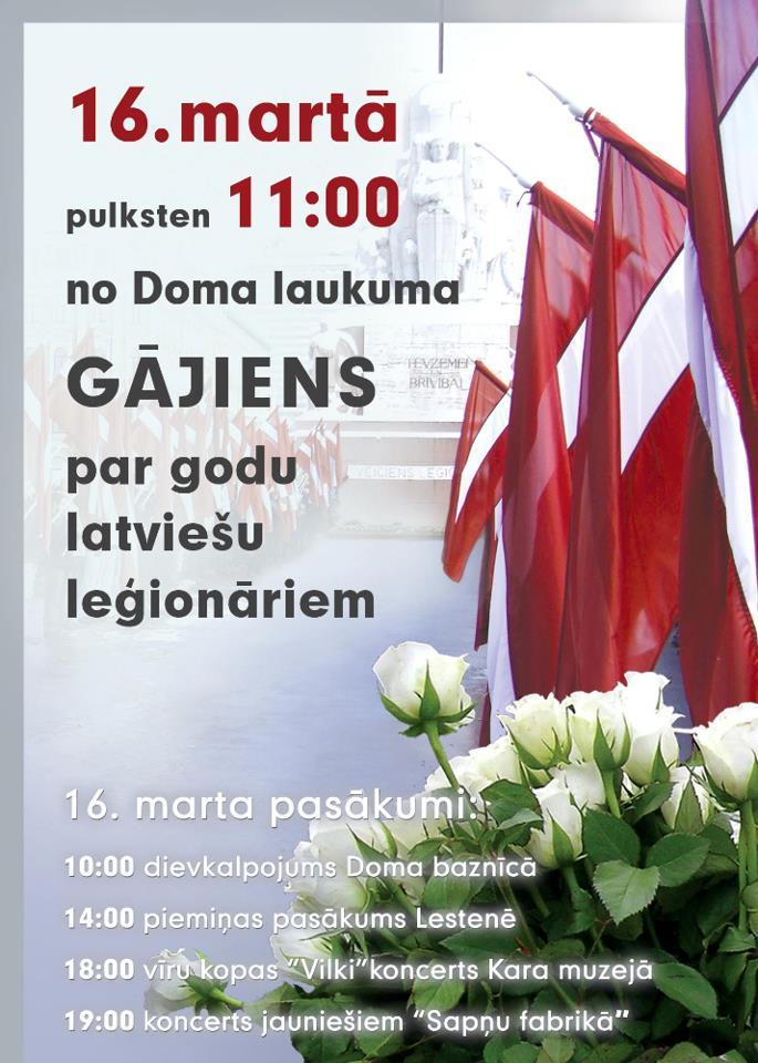 """Weitere Werbung für den """"Legionärstag"""" am 16. März 2012, in der das Konzert in der Sapnu Fabrika als Programmpunkt angekündigt wird."""