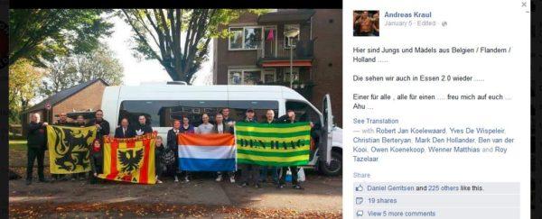 Screenshot eines Fotos von niederländischen HoGeSa-Aktivisten in Köln am 26. Oktober 2014.