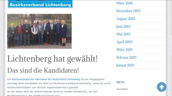 BVV KandidatInnen der AfD-Lichtenberg inkl. Heribert Eisenhardt (2.v.l.) Screenshot Website AfD-Lichtenberg