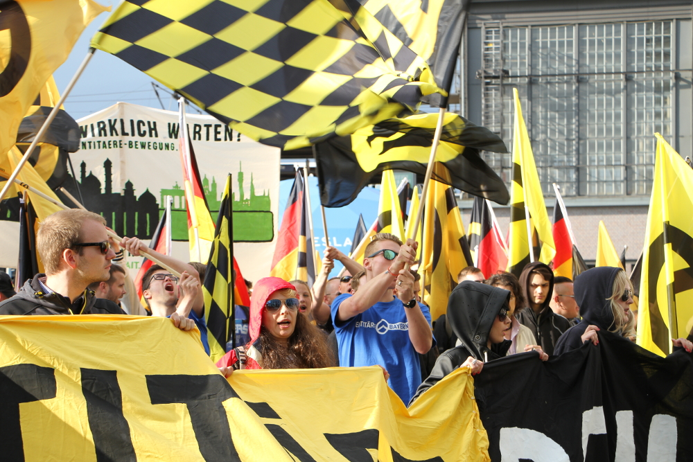 Demonstration der Identitären am 17. Juni in Berlin (c) Kilian Behrens / apabiz